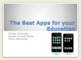 The Best Apps for your Education