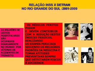 RELA  O INSS X DETRAN NO RIO GRANDE DO SUL :2001-2009