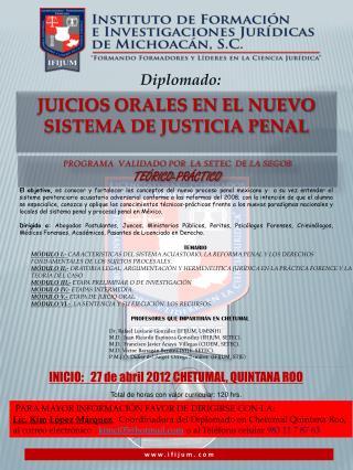 Juicios Orales En el Nuevo Sistema de Justicia Penal