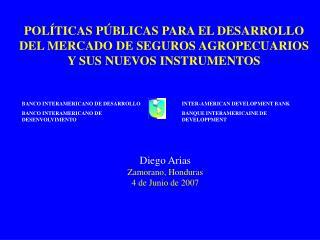 POL TICAS P BLICAS PARA EL DESARROLLO DEL MERCADO DE SEGUROS AGROPECUARIOS Y SUS NUEVOS INSTRUMENTOS