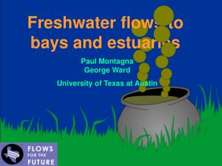 Freshwater flows to bays and estuaries