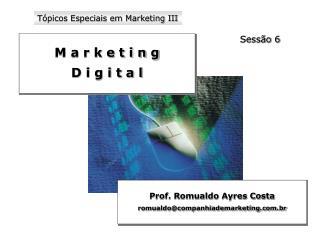 T picos Especiais em Marketing III