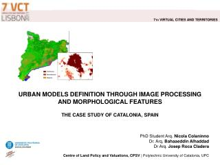 URBAN MODELS DEFINITION THROUGH IMAGE PROCESSING  AND MORPHOLOGICAL FEATURES   THE CASE STUDY OF CATALONIA, SPAIN