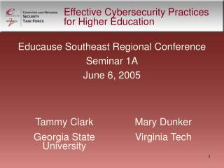 Effective Cybersecurity Practices for Higher Education