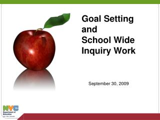 Goal Setting and School Wide Inquiry Work