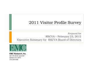 2011 Visitor Profile Survey