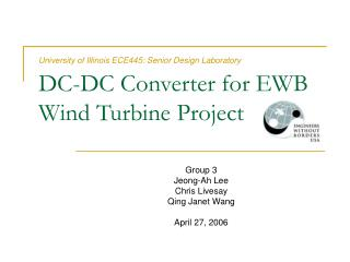DC-DC Converter for EWB Wind Turbine Project