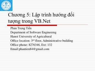 Chuong 5: Lp tr nh hung di tung trong VB.Net