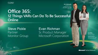 Office 365: 12 Things VARs Can Do To Be Successful Online
