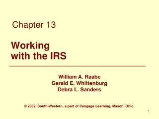 Working with the IRS