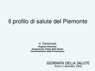 Il profilo di salute del Piemonte