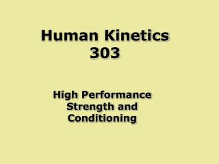 Human Kinetics 303