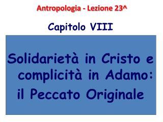 Antropologia - Lezione 23