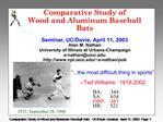 Comparative Study of  Wood and Aluminum Baseball Bats  Seminar, UC