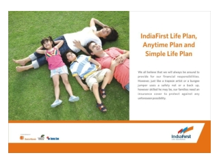 Anytime Plan Flipchart -online term insurance plan