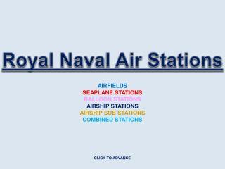 Royal Naval Air Stations