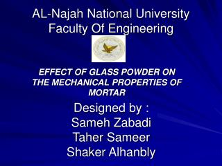 AL-Najah National University  Faculty Of Engineering