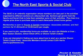 Procter  Gamble Sports  Social Club