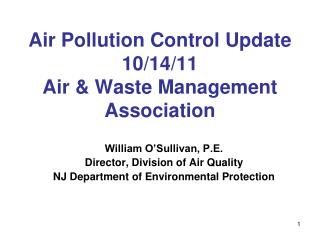 Air Pollution Control Update 10