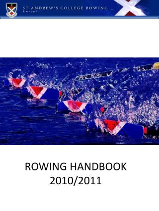 ROWING HANDBOOK 2010