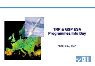 TRP  GSP ESA Programmes Info Day