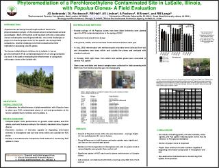 Phytoremediation of a Perchloroethylene Contaminated Site in LaSalle, Illinois,  with Populus Clones- A Field Evaluation