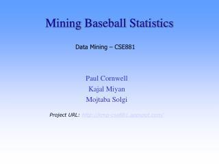 Mining Baseball Statistics