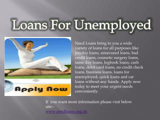 Loans For Unemployed