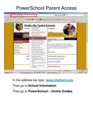 PowerSchool Parent Access