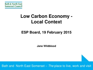 North Somerset Council  Carbon Management Programme - Update