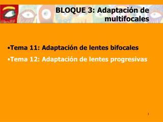BLOQUE 3: Adaptaci n de multifocales