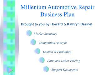 Millenium Automotive Repair Business Plan