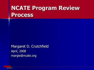 NCATE Program Review Process