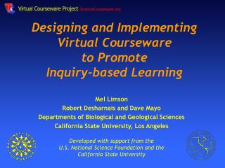 Designing and Implementing Virtual Courseware to Promote  Inquiry-based Learning