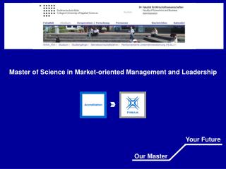 Master of Science in Market-oriented Management and Leadership
