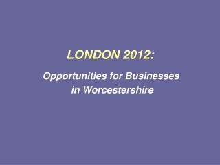 LONDON 2012: