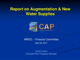 Report on Augmentation  New Water Supplies