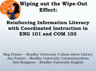 Wiping out the Wipe-Out Effect: