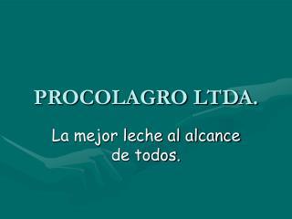 PROCOLAGRO LTDA.