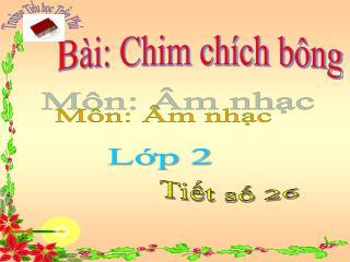 B i: Chim ch ch b ng