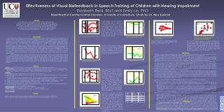 Effectiveness of Visual Biofeedback in Speech Training of Children with Hearing Impairment Elizabeth Reid, BSLT and Emil