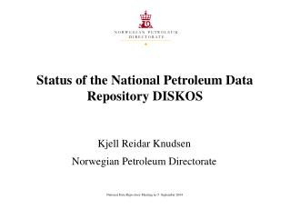 Norway - The value of a National Petroleum Data Repository as ...