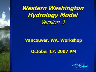 Western Washington  Hydrology Model Version 3