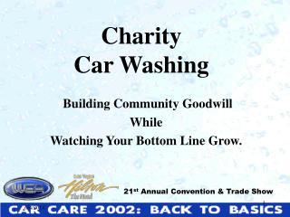 Charity  Car Washing