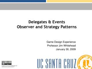 Delegates  Events Observer and Strategy Patterns