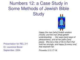 Numbers 12: a Case Study in Some Methods of Jewish Bible Study