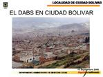 EL DABS EN CIUDAD BOLIVAR
