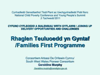 Cynhadledd Genedlaethol Tlodi Plant ac Uwchgynhadledd Pobl Ifanc  National Child Poverty Conference and Young People s S