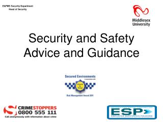 Security and Safety  Advice and Guidance