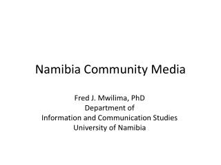 Namibia Community Media